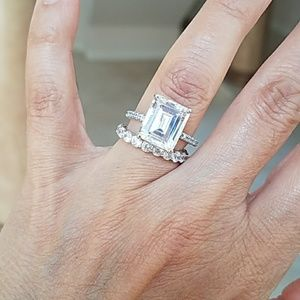 Jewelry - 7.5ct Engagement Ring & Eternity Wedding Band